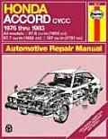 Honda Accord CVCC 1976-1983 Automotive Repair Manual