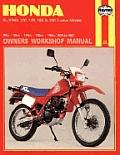 Haynes Honda XL-XR 80, 100, 125, 185 & 200 Owners' Workshop Manual, No. M566: 1978-1987