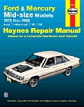 Ford Mercury Midsize Models Repair Manual 1975 1986