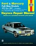 Ford & Mercury Full Size Models Repair Manual 1975 1987 V8 Engines
