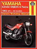 Yamaha Xz 550 Vision V-Twins Owners Workbook Manual, No. M821: 1982 on
