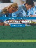 How To Teach Non-fiction Writing At Key Stage 3