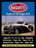 Bugatti Type 57 To Type 251: a Brooklands Road Test Portfolio