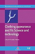 Clothing Appearance and Fit: Science and Technology (Woodhead Publishing Series in Textiles) Cover