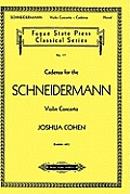 Cadenza for the Schneidermann Violin Concerto