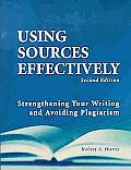 Using Sources Effectively Strengthenin