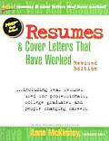 Resumes & Cover Letters Rev Edition Have Work