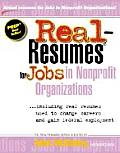 Real Resumes For Jobs In Nonprofit Organ