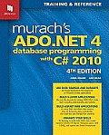 Murach's ADO.NET 4 Database Programming with C# 2010 Cover