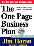 The One Page Business Plan: Start with a Vision, Build a Company! with CDROM