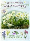 Let's Look for Wild Flowers: A Spot & Learn, Stick & Play Book (Let's Look)