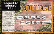 College Kit (Magnetic Poetry)