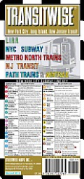 Streetwise Transitwise New York New Jersey Transit Map - LIRR, NYC Subway, Metro North trains, amtrak: Folding Pocket Size Travel Map (Streetwise)