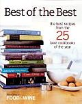 Best of the Best: The Best Recipes from the 25 Best Cookbooks of the Year Cover