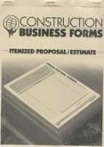 Atlas Construction Business Forms: Itemized Proposal/Estimate