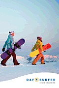 Day Surfer Login Organizer (Snowboarders at Sunrise)