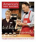 Test Kitchen Favorites: The 2007 Companion Cookbook to the Hit TV Show (America's Test Kitchen) Cover