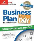 Business Plan in a Day: Get It Done Right, Get It Done Fast (Business Plan in a Day: Get It Done Right, Get It Done Fast) Cover