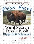 Circle It, Bison Facts, Word Search, Puzzle Book
