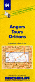 Angers, Tours, Orleans Map