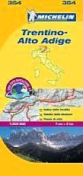 Michelin Trentino-Alto Adige Map
