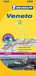 Michelin Map Italy: Veneto 355 (Maps/Country) Cover