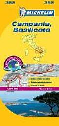 Michelin Map Italy Campania Basilicata 362