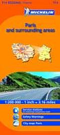 Michelin Map France: Ile-de-France 514 (Michelin Maps) Cover
