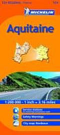 Michelin Map France: Aquitaine 524 (Michelin Maps)