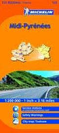 Michelin Map France: MIDI-Pyrenee's 525 (Michelin Maps)