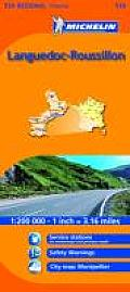 Michelin Languedoc Roussillon Regional France Map 526