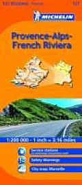 Michelin Map France: Provence-Alpes-Cote D'Azur 527 (Michelin Maps)