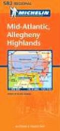 Mid Atlantic Allegheny Highlands Regional Map