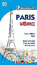 Paris Poche Michelin Map 50 3rd Edition
