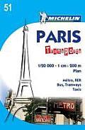 Michelin City Map Paris Transports