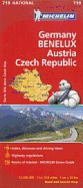 Michelin Germany Austria Benelux Czech Republic Map