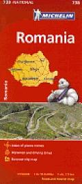 Romania Map 4th Edition
