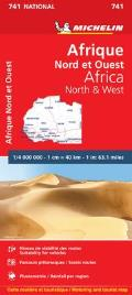 Michelin Maps #741: Michelin Africa North & West Cover