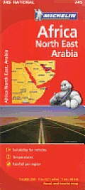 Michelin Maps #745: Michelin Africa/North East Arabia Cover