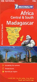 Michelin Map Africa Central South and Madagascar 746