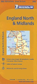 Michelin Map Great Britain: England North & the Midlands 502 (Maps/Regional) Cover