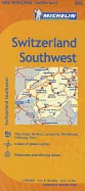 Switzerland Southwest Map 10th Edition