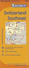 Michelin Switzerland Southeast Map