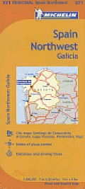 Michelin Spain: Northwest, Galicia Map 571 (Maps/Regional) Cover