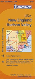 Michelin USA: New England, Hudson Valley Map 581 (Maps/Regional)