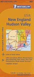 Michelin USA: New England, Hudson Valley Map 581 (Maps/Regional)