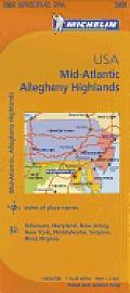 Michelin USA: Mid-Atlantic, Allegheny Highlands Map 582 (Maps/Regional)