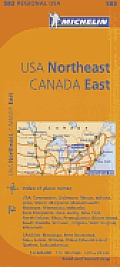 USA Northeast Canada East Map 9th Edition