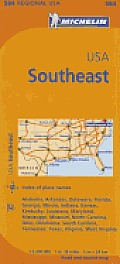 Michelin USA: Southeast Map 584 (Maps/Regional)