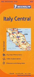 Michelin Italy: Central Map 563 Cover